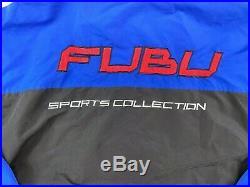 Vtg Rare FUBU Sports Collection Big Logo Track Suit 90s Rap Hip Hop size XL