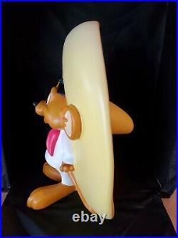 Warner Bros RARE Speedy Gonzales Big Fig Statue Looney Tunes Retired 1990