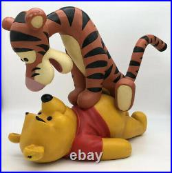 Winnie The Pooh and Tigger Disney BIG FIG Statue HTF Great Price! RARE Retired