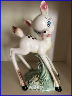 Wow! Rare Huge Vintage MCM Anthropomorphic Big Doe Eyed Deer Figurine 10 FAWN